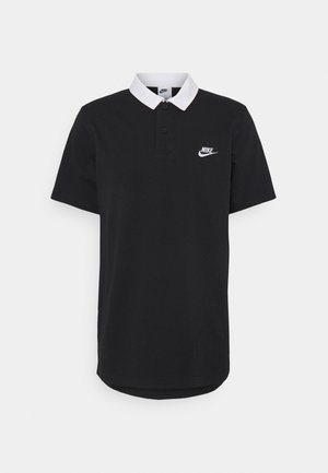 RUGBY - Polo - black/white