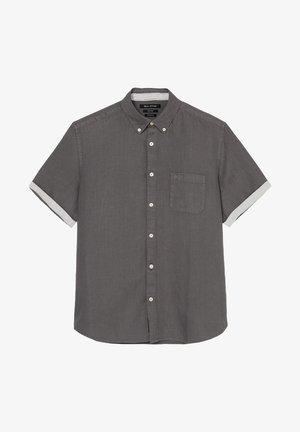 SHORT SLEEVE - Shirt - gray pinstripe