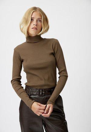 ROLLNECK - Long sleeved top - slate black
