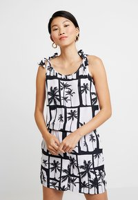 Q/S designed by - OVERALL KURZ - Jumpsuit - black/white - 0