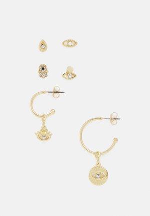 PCZAZIA SOLO EARRINGS 3 PACK - Earrings - gold-coloured/clear