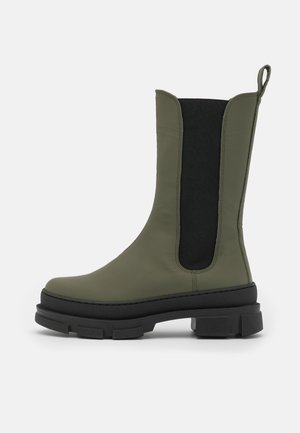ELISE CHELSEA - Platform boots - army