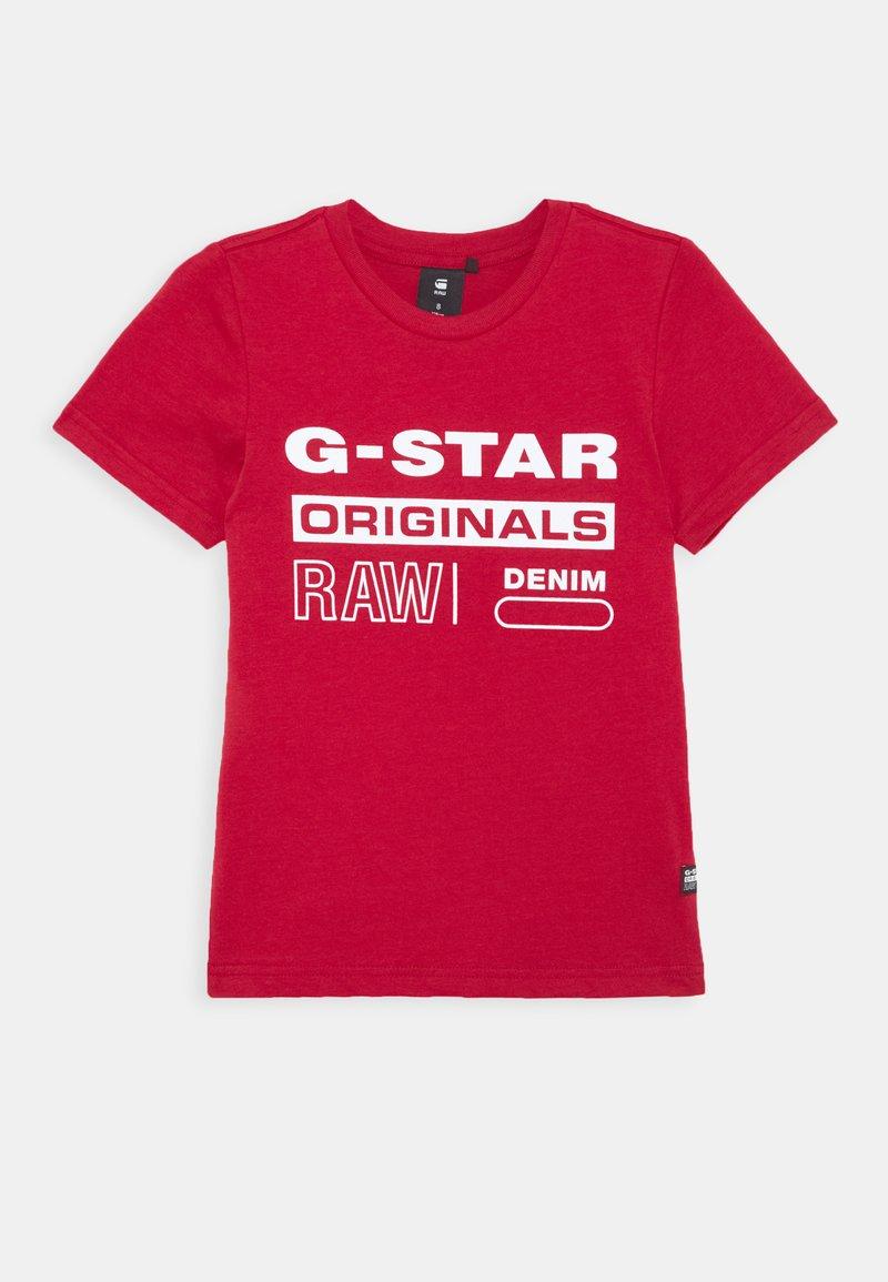 G-Star - SS TEE - Print T-shirt - dark baron