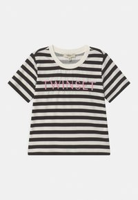 TWINSET - Print T-shirt - riga off white/nero/rose bloom - 0