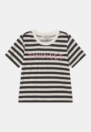 T-shirt print - riga off white/nero/rose bloom