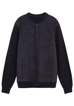 SUEDE - Bomber Jacket - dunkles marineblau