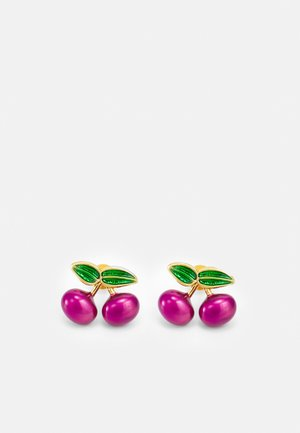 CHERRY STUD EARRING - Náušnice - wine