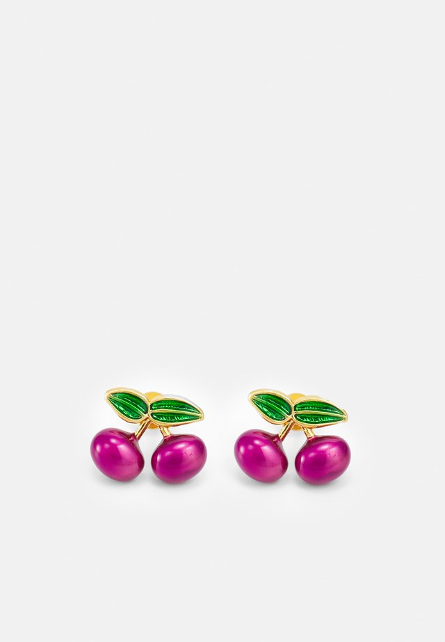CHERRY STUD EARRING - Oorbellen - wine