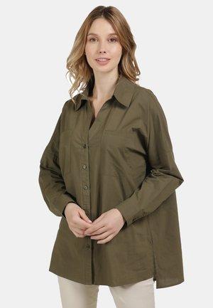 BLUSE - Button-down blouse - oliv