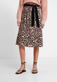 s.Oliver BLACK LABEL - KURZ - A-line skirt - brown - 0