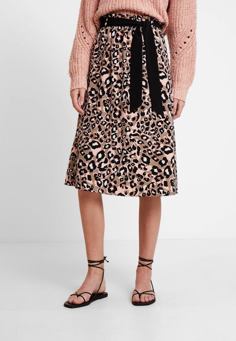 s.Oliver BLACK LABEL - KURZ - A-line skirt - brown