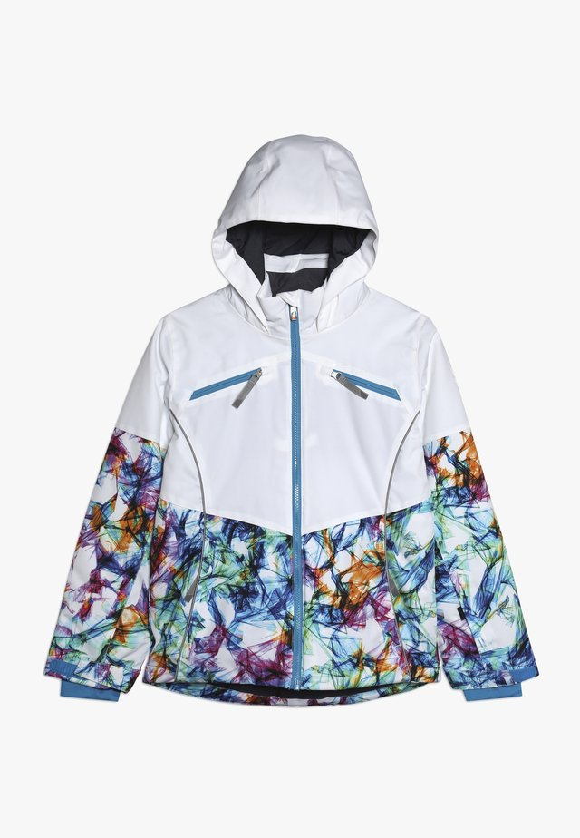 GIRLS CONQUER - Ski jacket - white/turquoise