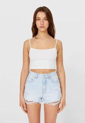 MIT RISSEN  - Szorty jeansowe - light blue