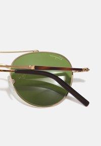 Salvatore Ferragamo - UNISEX - Sunglasses - shiny gold/olive green - 2