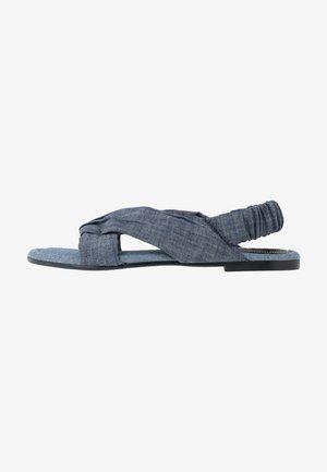 KNOT MARINA FLAT - Sandals - dark aged