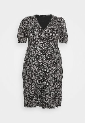 MONO SPOT WRAP DRESS - Robe d'été - black