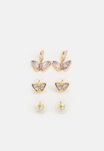MARGARGET 3 PACK - Earrings - clear/gold-coloured