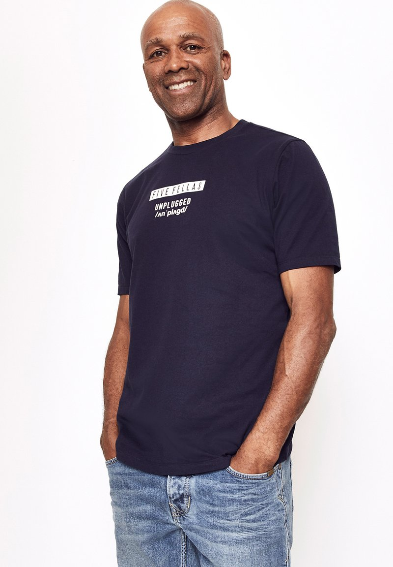 Five Fellas - Print T-shirt - navy