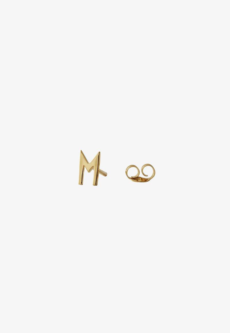 Design Letters - EARRING STUDS ARCHETYPES - M - Earrings - gold