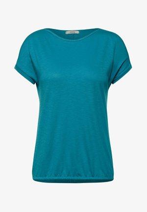MIT U-BOOT AUSSCHNITT - Basic T-shirt - blau
