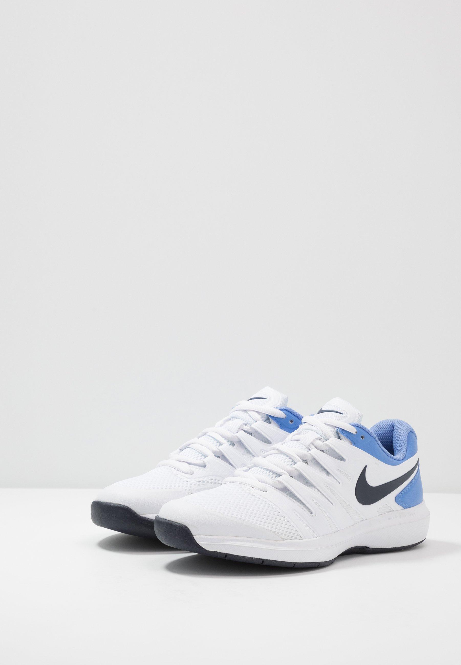 Nike Performance Air Zoom Prestige Cpt - Tennissko Til Tæppe White/obsidian/royal Pulse