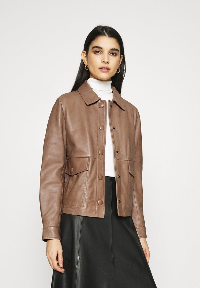 Sisley - Leather jacket - brown