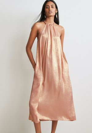 Cocktail dress / Party dress - rose gold coloured