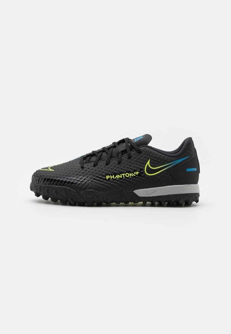 Nike Performance - JR PHANTOM GT ACADEMY TF UNISEX - Astro turf trainers - black/cyber/light photo blue