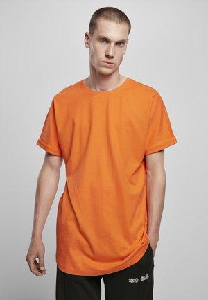 LONG SHAPED TURNUP TEE - T-shirt basic - orange