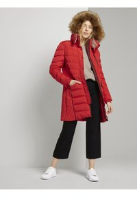 TOM TAILOR - SIGNATURE PUFFER COAT - Winter coat - strong red - 1