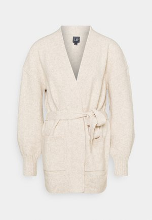 BELTED OPEN SUPER PLUSH - Cardigan - light heather