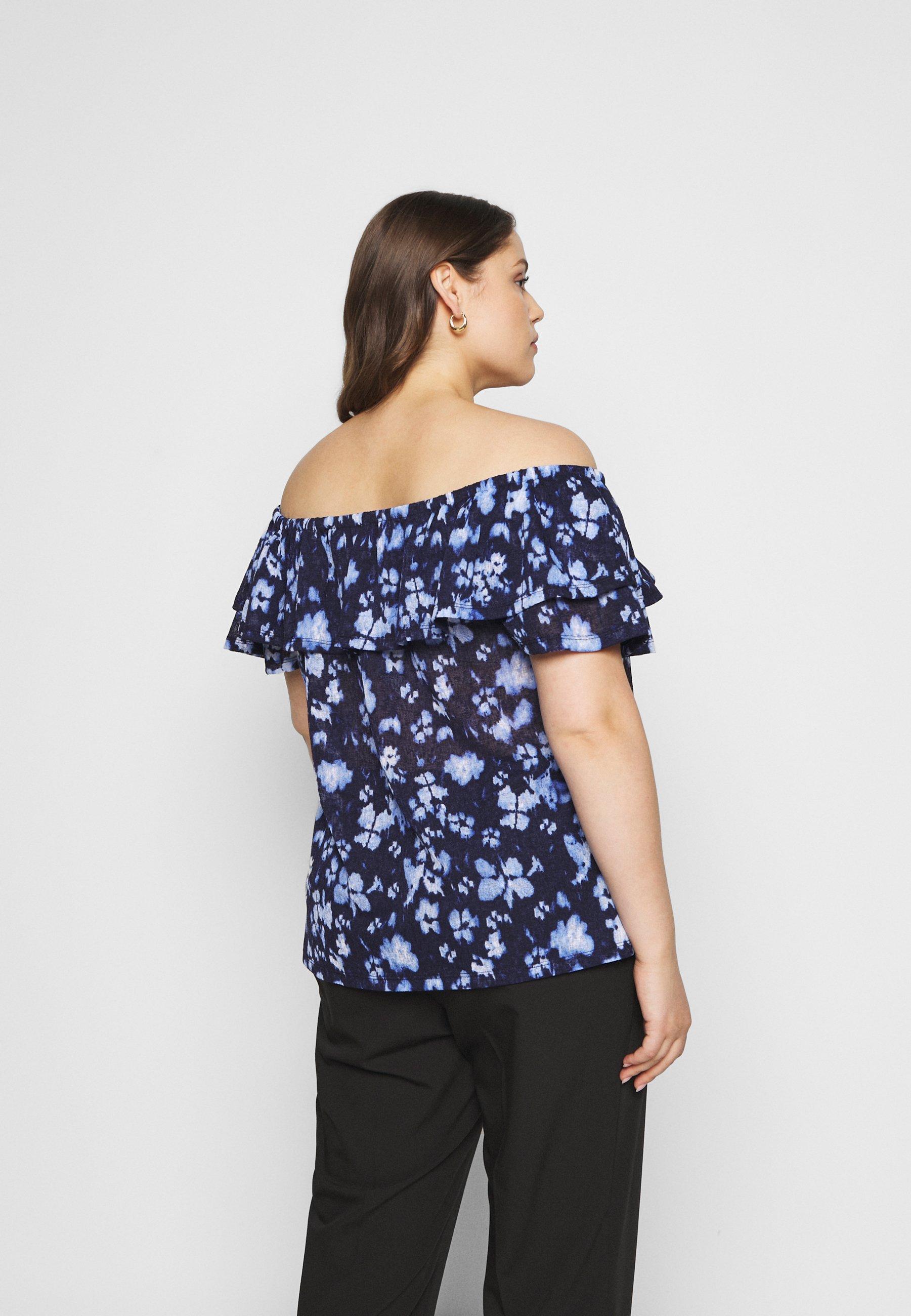 Perfect Women's Clothing MICHAEL Michael Kors POPPY Print T-shirt true navy 0cltZj8AN