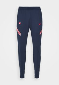 KROATIEN DRY PANT - National team wear - midnight navy/ligth crimson/ligth crimson