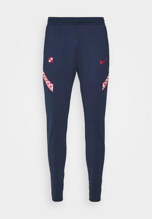 KROATIEN DRY PANT - National team wear - midnight navy/ligth crimson/ligth crimson