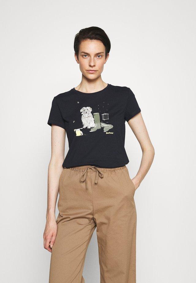 ROWEN TEE - T-shirt print - navy