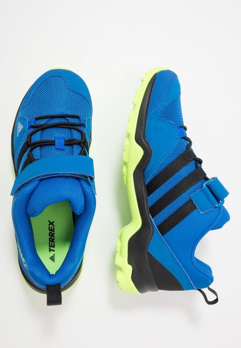 adidas Performance - TERREX AX2R UNISEX - Hiking shoes - glow blue/core black/signal green