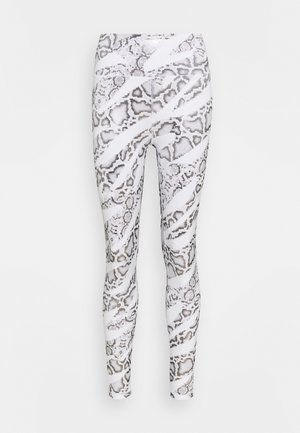 TRAIN - Leggings - white/castlerock