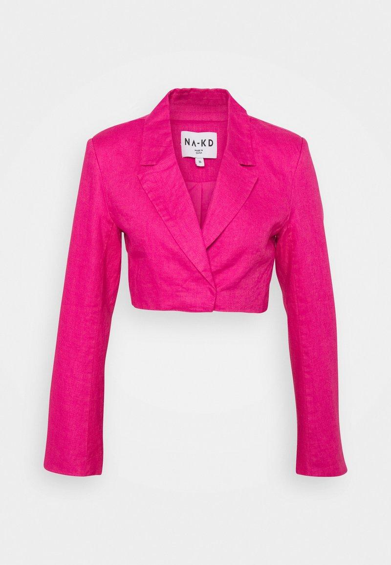NA-KD - CROPPED  - Blazer - pink
