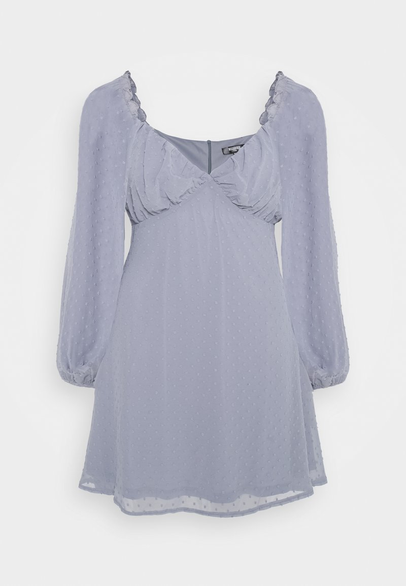 Missguided Plus - MILKMAID SKATER DRESS  - Korte jurk - grey