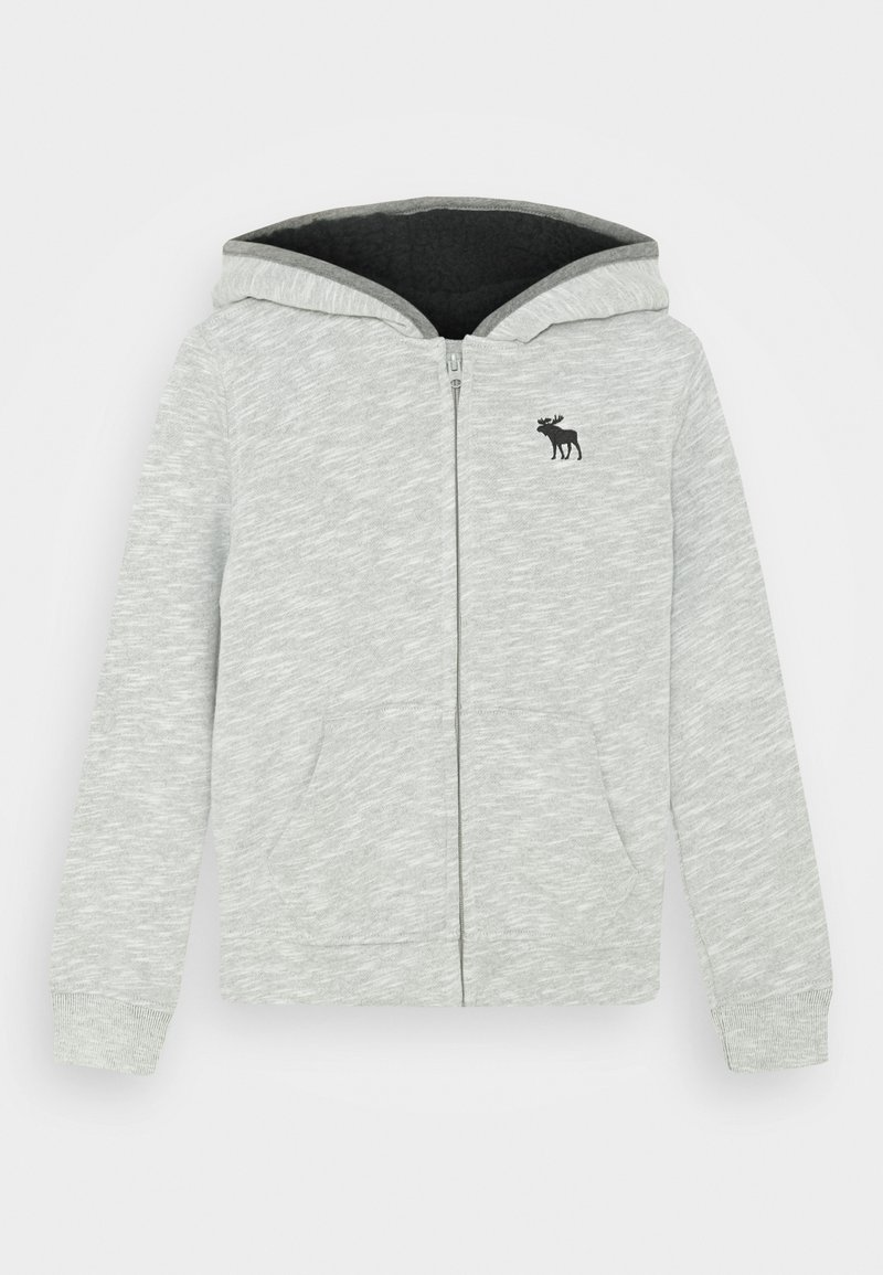 Abercrombie & Fitch - ICON SHERPA - Zip-up hoodie - grey