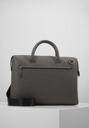 LEATHER - Taška na laptop - grey