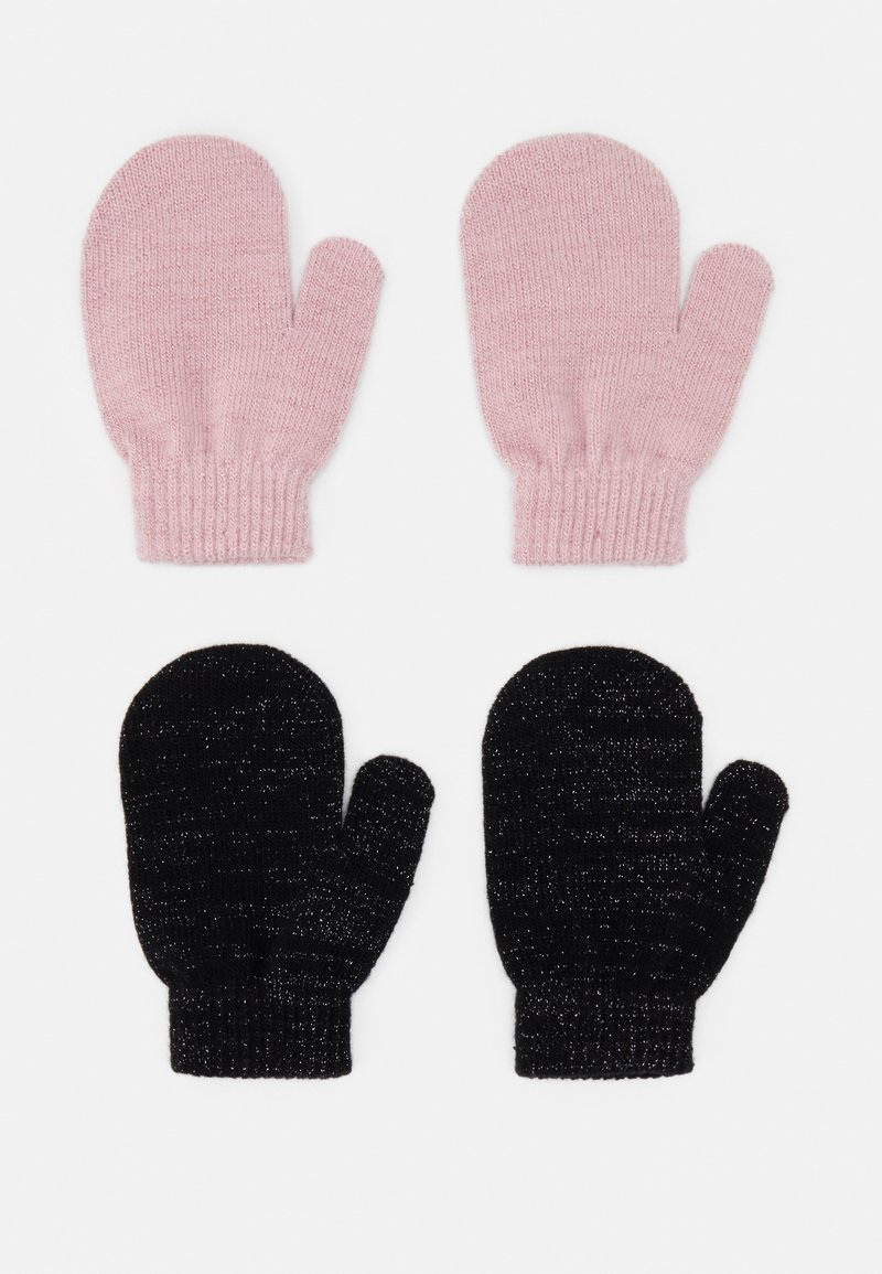 Name it - NMFMAGIC MITTENS 2 PACK - Gloves - black/coral blush