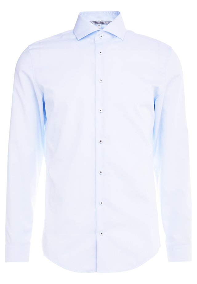 SLIM FIT SPREAD KENT PATCH - Kostymskjorta - light blue