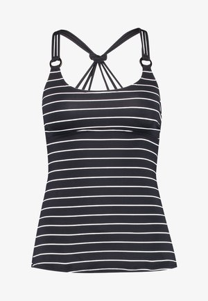 MOONRISE BEACH PADDED TANKINI - Bikini top - black