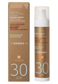 Korres - RED GRAPE ANTI-AGEING/ANTI-SPOT TINTED SUNSCREEN SPF30 - Sun protection - - - 1