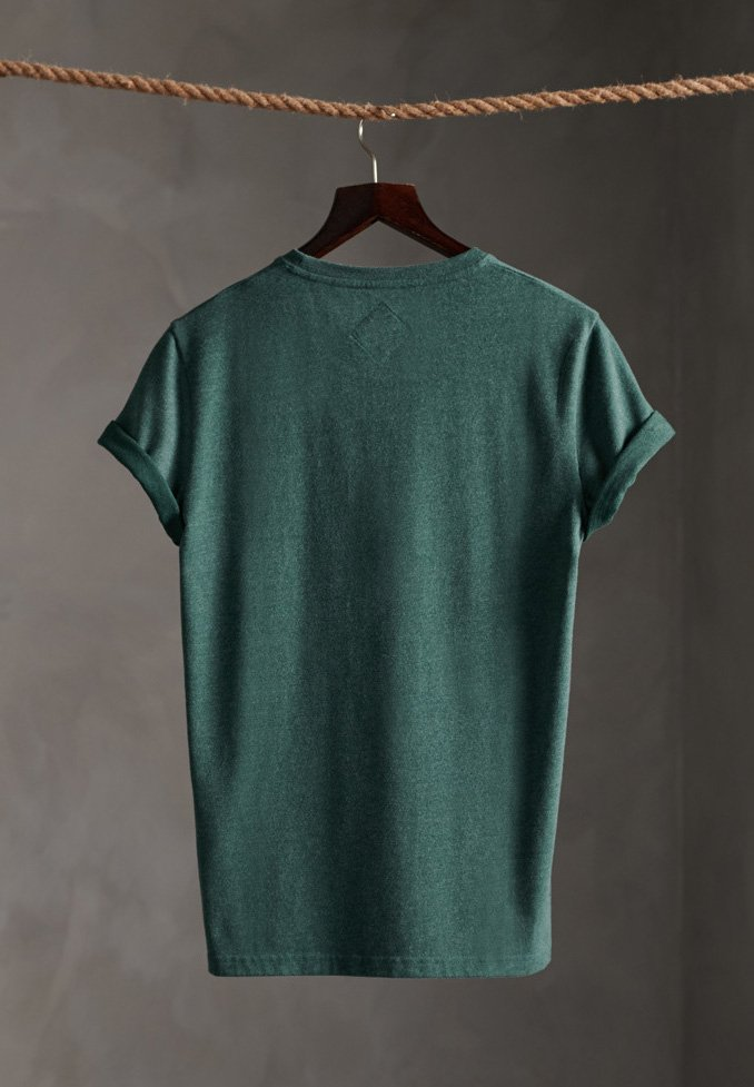 Superdry LIMITED EDITION ONE COLOUR - T-Shirt print - buck green marl/grün MaAjWp