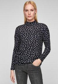 s.Oliver - T-shirt à manches longues - dark blue aop - 0