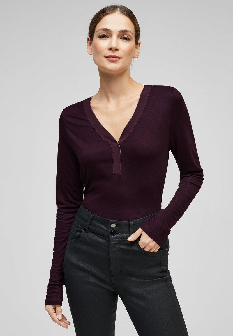 s.Oliver BLACK LABEL - Long sleeved top - dark purple