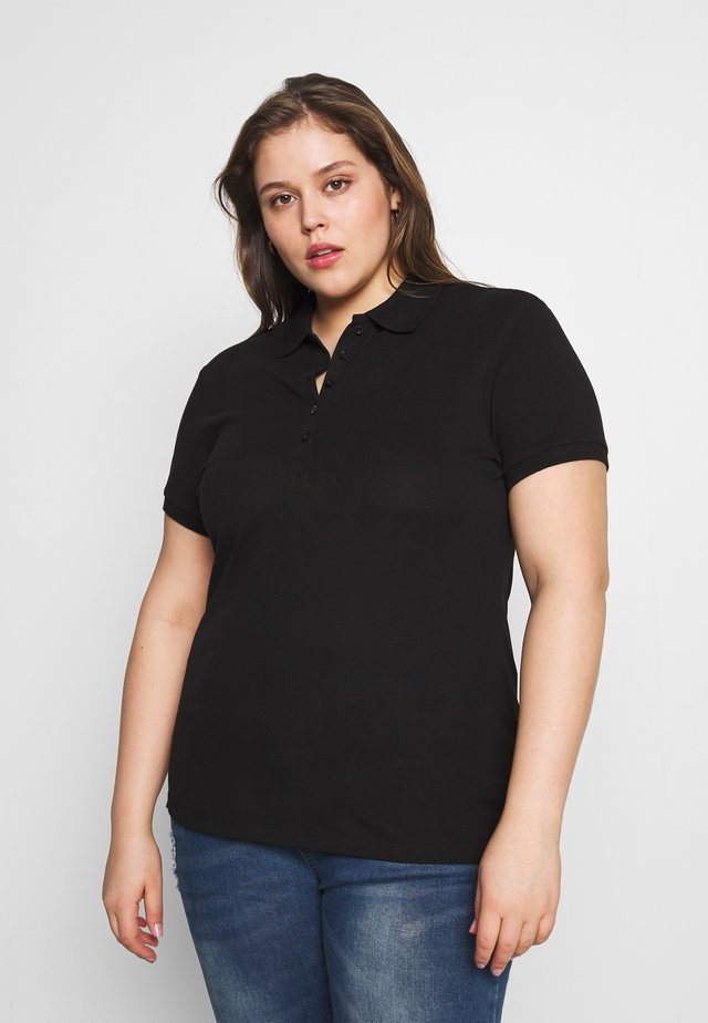 BASIC POLO - Print T-shirt - black