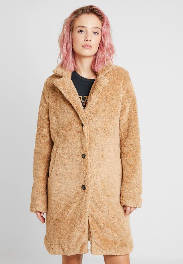 LONGLINE NUBBY COAT - Abrigo de invierno - tan